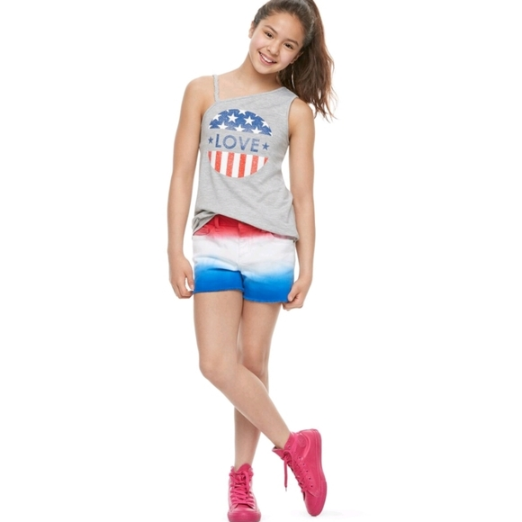 SO Other - NEW Girls SO Americana Dip-Dye Ombre Jean Shorts